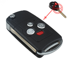 Flip Key Shell Refit for TOYOTA Camry Avalon Corolla Remote Key Case 4 Buttons