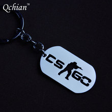 1Pcs Game CSGO Key Chains Stainless Steel Keychain Counter Strike CS GO Keychain Keyring Porte Clef Chaveiro Carro(China)