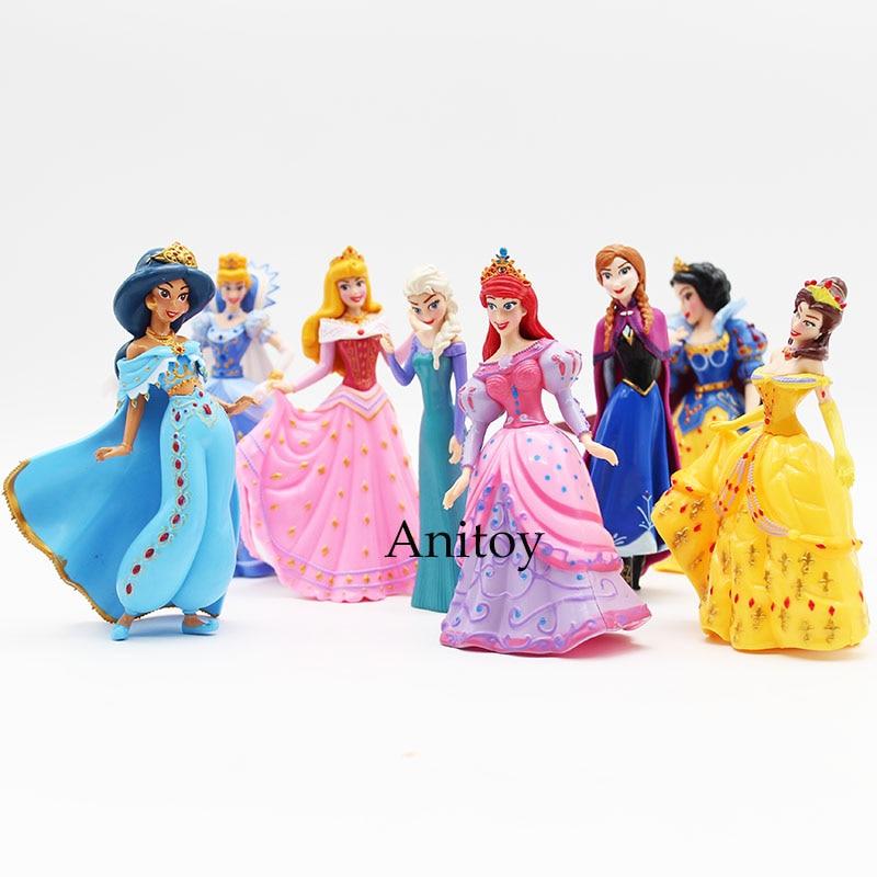 Snow White Elsa Anna 8pcs/set Merman Princess Ariel Dolls ACGN Brinquedos PVC Action Figures Child Girls Toys Gifts 12cm KT3087<br><br>Aliexpress