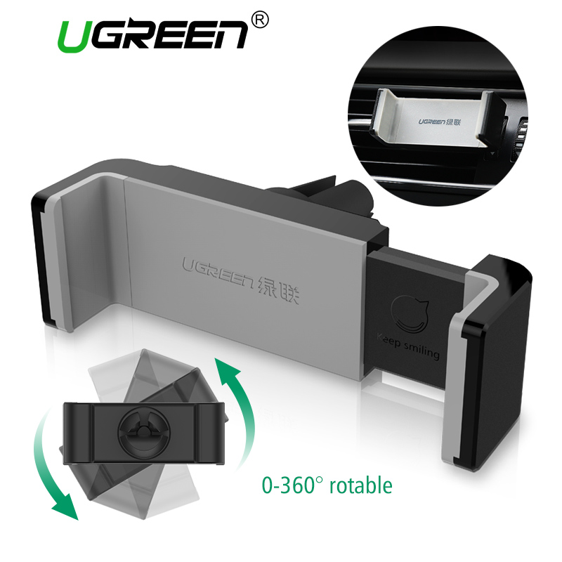 Ugreen Car Holder for iphone Samsung Air Vent Mount Holder 360 Adjustable Car Phone Holder Mobile Phone Stand for iPhone 6 5 5s(China)