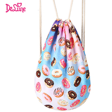 Factory New Arrival Drawstring Large Portable Soft Travel Backpack Cartoon Shoes Sorted Bag Students Book Bag Soft Big Shoes Bag
