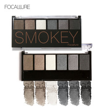 FOCALLURE New Pro 6 Colors Eyeshadow Makeup Set Waterproof Smudge Proof Eye Shadow Powder Palette For Women(China)