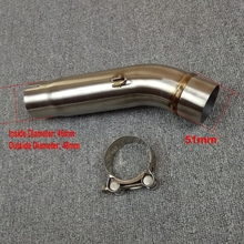 Motorcycle Exhaust Middle Mid Pipe Connection Link for HONDA CB400 Slip-On 100% Brand New(China)
