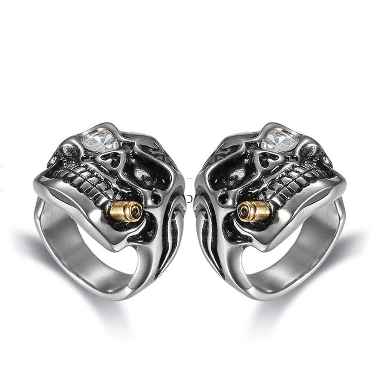 แหวนโคตรเท่ห์ Code 036 แหวนกะโหลกมาเฟีย เท่ห์ๆ กวนๆ สแตนเลส8