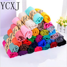 10pcs/lot High Quality Cheap Price Solid Cotton Viscose Scarves For Ladies Pashmina Hijabs Foulard Femme Wrap Cape Muslim Scarf(China)