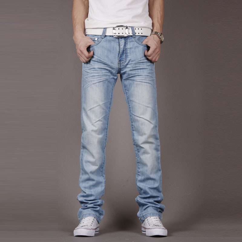 2017 Four Seasons New Fashion Slim Fit Mens Light Blue Jeans Yeezy Boost Boy Current Boutique Balmai Jeans Men High QualityОдежда и ак�е��уары<br><br><br>Aliexpress