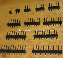 10PCS Single Row Male 2.54 Breakable Pin Header Connector Strip 1 x 21P/22/23/24/25/26/27P/28/40 Pin