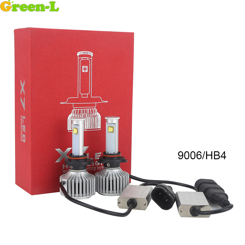 Green-L H4 9003 HB2 H7 H11 9005 HB3 9006 HB4 Led headlight Kit 12V 24V 55W 5500lm Auto Cars Led lamps All in one Driving Light<br>