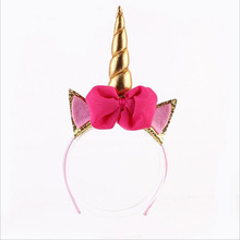 2017 DIY Felt Unicorn Horn Headband,1PC Glitter Metallic Unicorn Headband,for Girls and kids Party Hairband/Hair Accessories
