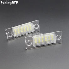 LED License Plate Lights for VW Caddy 3 / Golf 5 Plus / Jetta 5 / Passat B5.5 Sedan / Passat B6 Wagon / Touran / Transporter T5(China)