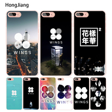 HongJiang BTS Bangtan Wings cell phone Cover case for iphone 6 4 4s 5 5s SE 5c 6s 7 8 plus X(China)