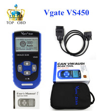 Free Shipping Vgate Scan VS450 VW VAG Scanner OBD2 Diagnostic Tool Scaner For Car Scanners Automotive Diagnosis(China)