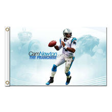 Cam Newton The Franchise Flag Carolina Panthers Football Sport Team 3 X 5ft Banners Super Bowl Champions Banner Polyester Banner(China)