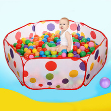 1.5M Kids Play Game House Foldable Tent Pool Children Tent Polka Dot Ocean Ball Pool Baby Educational Toys High Quality