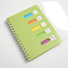 A5 / A6 / B5  coil book color spiral this thickening rollover PP office classification Notebook stationery notebook