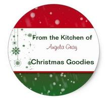 1.5inch Christmas Cookies Exchange From the Kitchen Baking Classic Round Sticker(China)