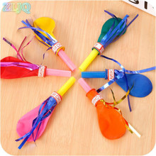 ZLJQ Whistle Balloon 20pcs Birthday Party Balloons with Whistle Balloons Toys Will Be Called Balloon Funny Party Supplies 75D