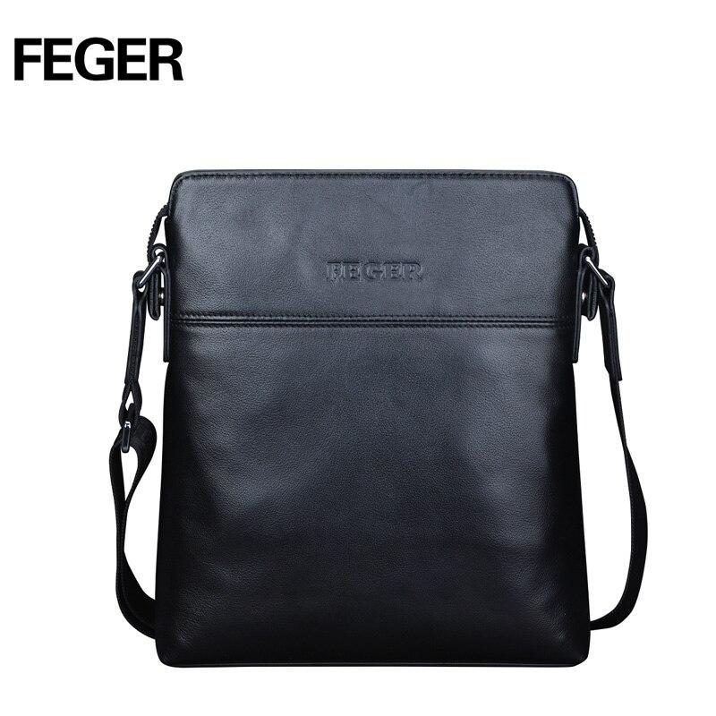 FEGER New Arrival Genuine Leather Men Bag Business Messenger Bag Shoulder Bag for Men Free Shipping<br><br>Aliexpress
