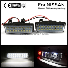 2pcs Coupe LED License Plate Lights Lamps for 2013 2014 2015 Nissan Altima Sedan(China)