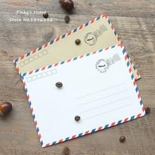10pcs/lot Vintage Paper Envelopes Kraft Airmail Envelopes for Postcard Letter Greeting Paper Storage Stationery Envelope Set