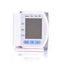 LCD Digital DisplayScreen Home Automatic Wrist Blood Pressure Pulse Sphygmomanometer and Tonometer Monitor Heart Beat Meter