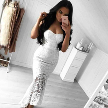 Adyce 2017 Fashion Women Summer Dress Sexy Chic Strapless Lace Patchwork Mermaid Bandage Dress Vestidos Celebrity Party Dress