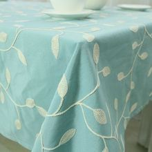 Embroidered Cotton Table Cloth Crochet Leaf Tablecloth Embroidery Dustproof Square Rectangular Dinning Table Cover Home Textile(China)