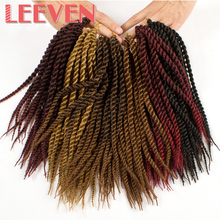 "Leeven Senegalese Twist Crochet Braid Hair 12"" 22strands 75G 5pcs/lot Synthetic Braiding Hair Extension High Temperature Fiber"