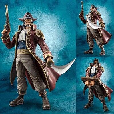 10 Japanese Anime One Piece  POP DX  Gol-D-Roger Action Figure Joker pvc Collection Model Toys 26cm<br>