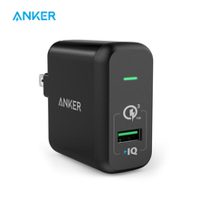 Quick Charge 3.0, Anker 18W USB Wall Charger US/EU Plug (Quick Charge 2.0 Compatible) PowerPort+ 1 for LG HTC Nexus iPhone iPad(China)