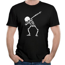 Dabbing Skeleton Dab Hip Hop Skull T Shirts Men O Neck Cotton Man Tops Tee Short Sleeve Euro Size Fashion Cool t-shirt For Mens