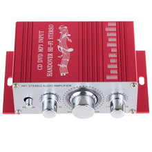 KENTIGER 20W Red Hifi Mini Digital amplificador Motorcycle Auto Car Stereo Power Amplifier Sound Mode Audio Support  DVD MP3