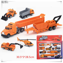 Music & flash 1:64 Diecast Alloy car model toy metal material vehicles 14 pcs machineshop truck shop truck set C1027