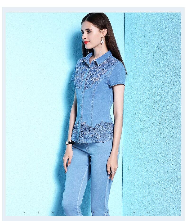 Lace Shirt Denim (2)