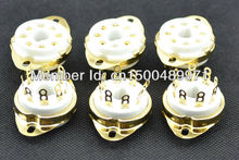 10PCS 8PIN gold ceramic chassis mount tube socket for VP41,SP4