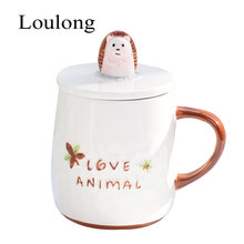 Lovely Cartoon Animal Relief Anaglyph Letter Fashion Belly Mugs Coffee Milk Breakfast Tea Water 3D Stereo Pretty Ceramics Cup(China)