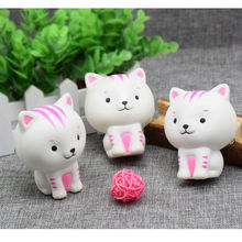 Cute Funny Soft Toy Stress Reduced Little Milk Cat Squishy Squeeze Cute Healing Toy Kawaii Collection Joke Gift Practical Jokes(China)