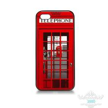 Red Telephone Box London mobile phone cover case for iPhone 4S 5S 5C 6S 6S Plus 7 7Plus Samsung Galaxy S4 S5 S6 S7 edge