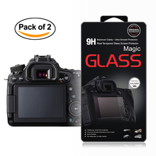 2x Self-Adhesive Glass LCD Screen Protector for Canon EOS 70D 77D 80D 700D 800D 750D 760D / 7D Mark II / Rebel T5i T6i T6s T7i