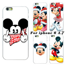 2017 latest fashion Mickey Mouse Christmas white PC Hard Case Phone Case for Apple iPhone 6 4.7 mobile phone sets