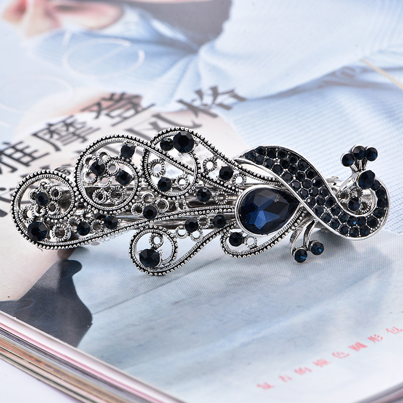 Fashion Vintage Crystal Women Hair France Barrettes Clip Pins To Qulality Beautiful Hair Clips For women HeadDress jewellry Gift(China (Mainland))