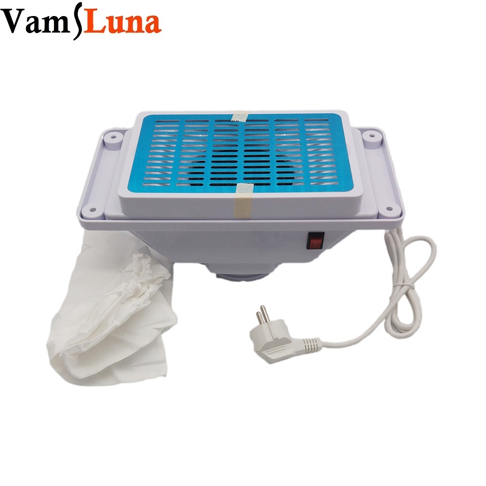 Manicure Table Nail Dust Collector With 2 Bags - Nail Vacuum Cleaner Machine 25W Nail Tools(China (Mainland))