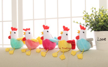Mix Random Colors , Kawaii 11CM Approx. Chicken Plush Stuffed Toy , Sucker Keychain Pendant Gift Plush DOLL TOY(China)