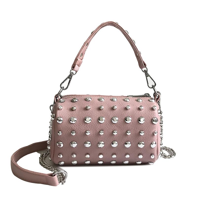 Women's Handbags Boston Bags Ladies Tassel Button Messenger Bags Leather Shoulder Bags Designer Bucket Bag Clutch Metal Pointed 39 Online shopping Bangladesh