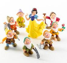 8pcs/1lot Princess Snow White Dwarf 6.5-9cm Toys Action Figure Brinquedo Juguetes Toy Kids Christmas Gift #1775 Free Shipping