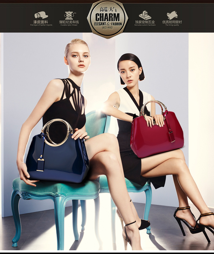New High Quality Patent Leather Women bag Ladies Cross Body messenger Shoulder Bags Handbags Women Famous Brands bolsa feminina (2)