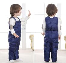 Winter children kids pants girls overalls Autumn toddler boys Girls warm jumpsuit baby kids trousers Duck overalls