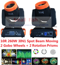 DHL 2016 Hot Beam Spot Moving Head Light 260W 10R Sharpy Robe Wash Gobo Stage Effect Lights DJ Disco DMX Professional Projector