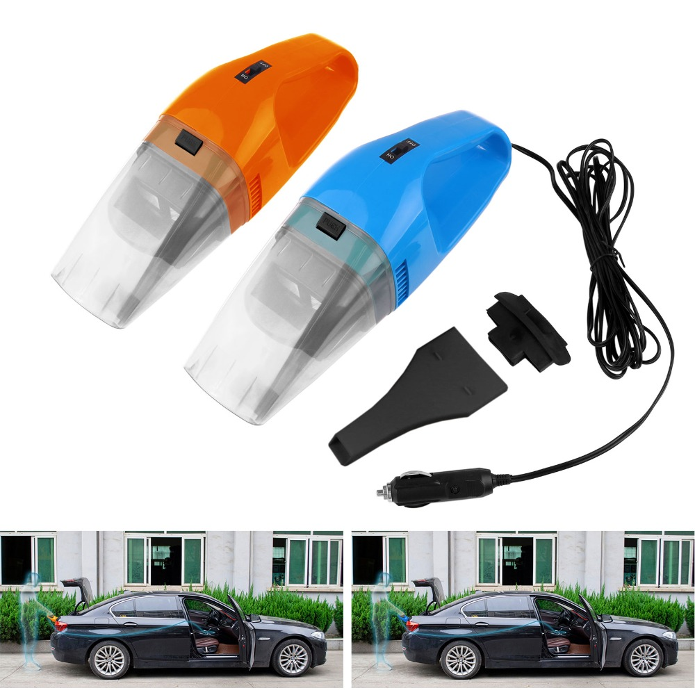 120W Portable Car Vacuum Cleaner Wet And Dry Dual Use Auto Cigarette Lighter Hepa Filter 12V Orange Blue(China (Mainland))