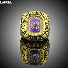 LAKONE Champions ring, 1988 Los Angeles Lakers Basketball world championship ring, sports fans ring, men gift ring